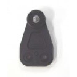 BLACK WHEEL PLASTIC ROLLER DIAMETRE 32MM / ACROSS WHEELS 24MM