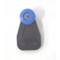 BLUE WHEEL PLASTIC ROLLER DIAMETRE 36MM / ACROSS WHEELS 33MM