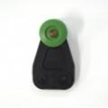 GREEN WHEEL PLASTIC ROLLER DIAMETRE 36MM / ACROSS WHEELS 39MM