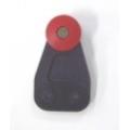 RED WHEEL PLASTIC ROLLER DIAMETRE 36MM / ACROSS WHEELS 29MM